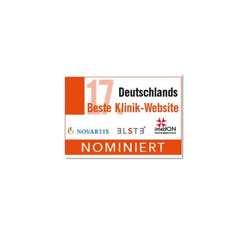 Nominiert - Deutschlands Beste Klinik-Website